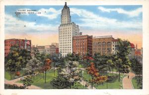 Memphis Tennesse~Court Square Bird's Eye View~Columbian Mutual Tower~1934 Pc