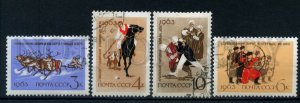 506285 USSR 1963 national sport Armenian wrestling Pamir polo