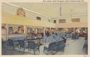New Lobby , Hotel Breakers , CEDAR-POINT on Lake Erie , 1930-40s