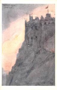 Scotland, UK Old Vintage Antique Post Card Edinburgh Castle Unused
