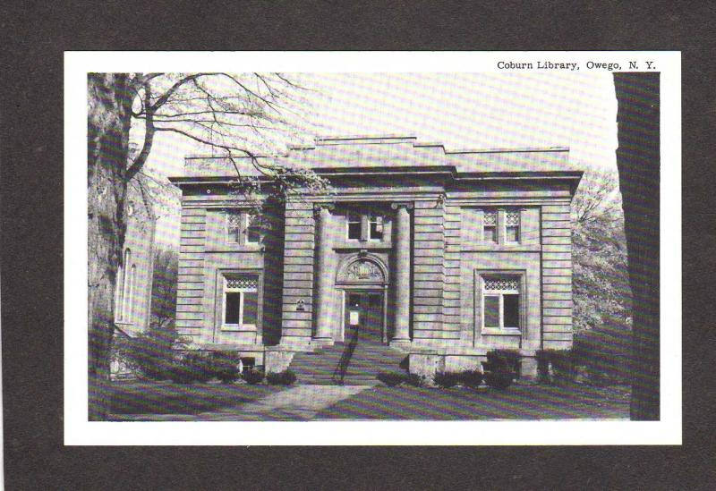 Carte Postale New York.Ny Coburn Library Owego New York Postcard Carte Postale