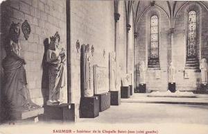 SAUMUR, Intrieur de la Chapelle Saint-Jean (cote gauche), Maine et Loire, Fra...
