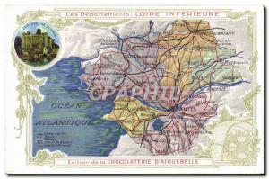 Old Postcard geographical maps of Chocolaterie & # 39Aiguebelle Inferieure Lo...
