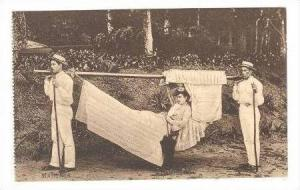 Madeira, 2 men carry woman in Hammock, 00-10s