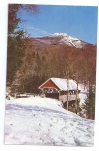 Covered Bridge Postcard New Hampshire Franconia Flume NH