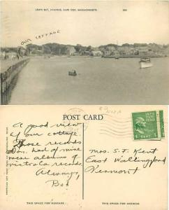 Lewis Bay, Hyannis, Cape Cod, Massachusetts, MA, 1947 Divided Back