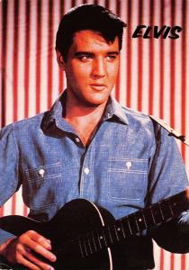 Rock and Roll Music Postcard ELVIS PRESLEY Candy Stripe, Portrait 17B
