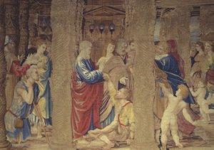 Pieter Van Aeist The Healing Of The Lame Man Painting Postcard