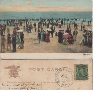 RIVERSIDE & DOE RUN RPO cancel 1908 MISSOURI / on view of BEACH
