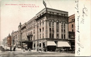 Sioux Falls SD~Huge Cataract Book & Stationery Bldg~Basement Barber Shop 1906