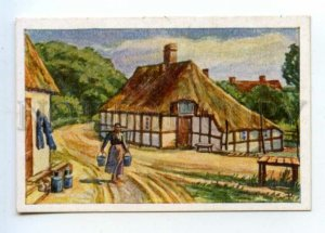 428134 GERMANY village Vintage Tobacco Card w/ ADVERTISING