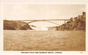 New York NY Real Photo RPPC NIAGARA FALLS Postcard c1940s Rainbow Bridge 18