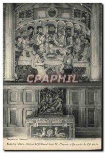 Old Postcard Senlis Ruins Du Chateau Henry IV Flemish tapestry