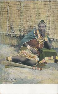 Zulu Girl, Cape of Good Hope, Early Postcard, Unused