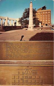 Dallas Texas~John Fitzgerald Kennedy Memorial Plaque~Postcard