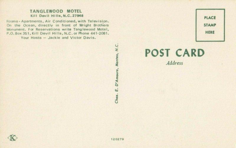 KILL DEVIL HILLS , NC, 1940-1960's; Tanglewood Motel