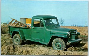 Vintage JEEP Automobile Advertising Postcard 4-Wheel Drive PICK-UP TRUCK 1960s