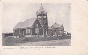 Maine Millinocket Congregational Church And Parsonage