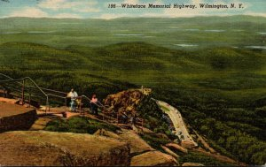 New York Whiteface Mountain Memorial Highway Trail From Whiteface Castle To S...