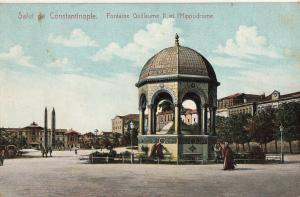 Turkey Constantinople fontaine Guillaume II et Hippodrome Istanbul