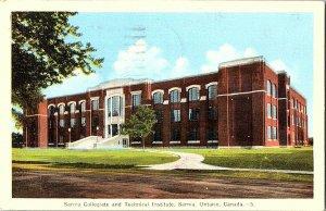 Sarnia Collegiate Tech Institute Sarnia Ont. Canada Postcard Standard View Card