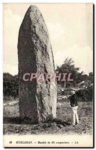 Old Postcard Dolmen Menhir Menhir of Huelgoat He ampeulven