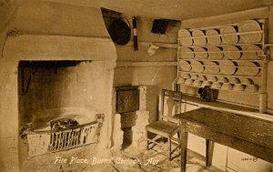 UK - Scotland, Ayr. Burns Cottage, Firepalce
