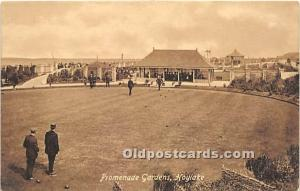 Old Vintage Lawn Bowling Postcard Post Card Promenade Gardes, Hoylake Unused
