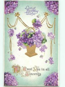 Divided-Back BEAUTIFUL FLOWERS SCENE Great Postcard AA4007