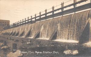 E32/ Sturgis Michigan Mi Real Photo RPPC Postcard Hydro Electric Dam 1911 Parham