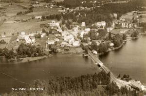 finland suomi, JOUTSA, Aerial View (1950s) RPPC