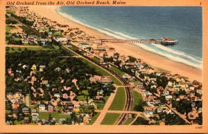 Maine Old Orchard Beach From The Air