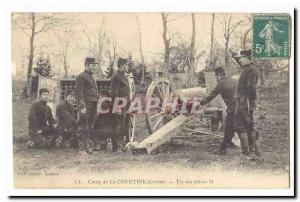 Creuse Camp La Courtine Old Postcard Shooting of 75 parts