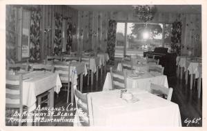 Albia IA Darlene's Cafe Inside~Split-Level Keyboard Organ~Benton Ave? RPPC 1955