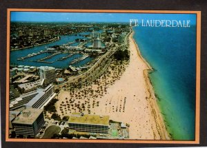 FL Clipper Hotel Bahia Mar Hotel Yacht Basin Fort Ft Lauderdale Florida Postcard