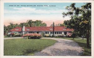 Florida Winter Park Home Of Mr Irving Bacheller
