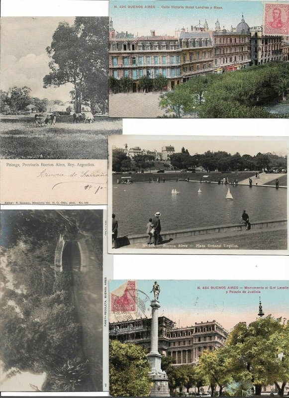 Argentina Buenos Aires Postcard Lot of 10 01.13