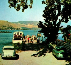 Beautiful Lake Chelan Cascade Mountains Washington UNP 1950s Chrome Postcard