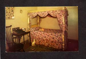 MA Peabody Museum Salem Mass Massachusetts Postcard Bed Cleopatra Barge Bedroom