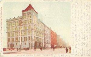Spokane WA Riverside Ave Vintage 1906 Postcard