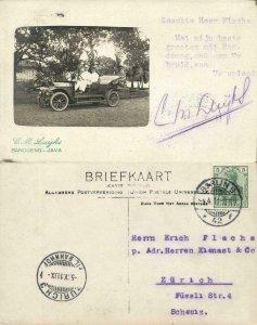 indonesia, JAVA BANDUNG, Old Car (1911) Foto Studio C.M. Luijks RPPC - READ !!
