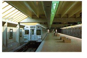 TTC Subway Train Lawrence West Station, Toronto, Ontario, Passengers