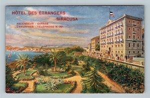 SIRACUSA - Hotel des Etrangers Cartolina Postale Italiana