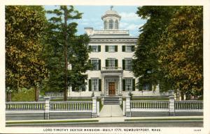MA - Newburyport. Lord Timothy Dexter Mansion