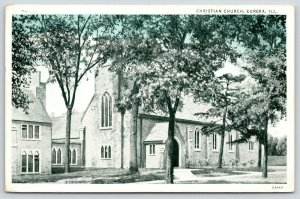 Eureka Illinois~covered Arch Entryway to the Christian Church~1935 Bluesky PC