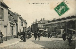 CPA DOULLENS Halle au Lin (19072)