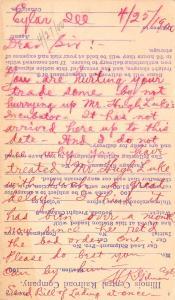 Eylar-Saunemin IL Hugh Lake Complaint~Geo Ertel Co~Quincy~Incubator 1900 Postal