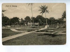 206569 INDONESIA HOLLAND INDIA SABANG Park Vintage postcard