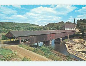 Unused Pre-1980 CHURCH & COVERED BRIDGE Bath New Hampshire NH t7862