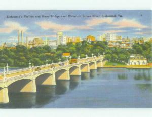 Unused Linen BRIDGE SCENE Richmond Virginia VA HQ9858